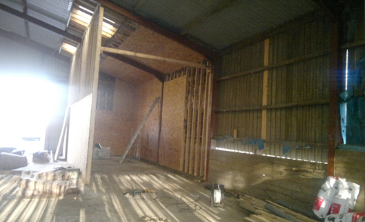 KIln & drying shed - Bedford Timbers - South Molton, Devon - Insulation
